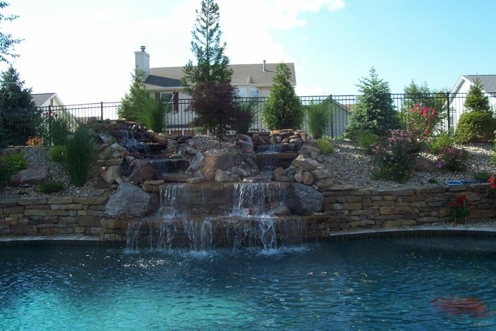 Multi Tiered Water Feature by JLF Services